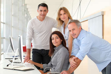 Group of people in business training Stock Photo - 8258531
