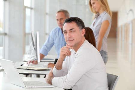 reunion de trabajo: Hombre de negocios en la reuni�n de trabajo  Foto de archivo