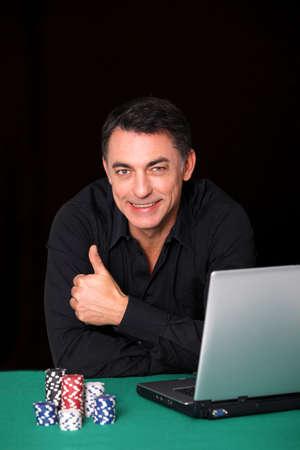 Man poker gambling on internet photo