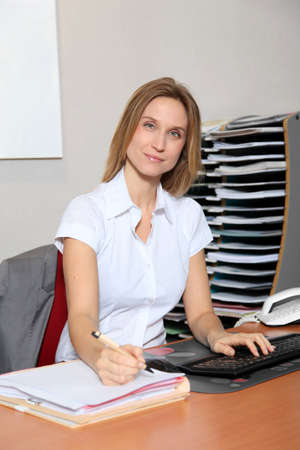 councilor: Woman working in the office Stock Photo