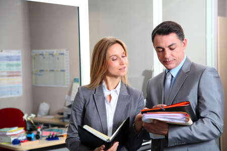 insurance consultant: business people meeting in the office Stock Photo