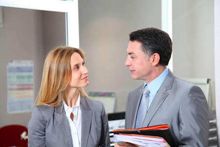 bank records: business people meeting in the office Stock Photo