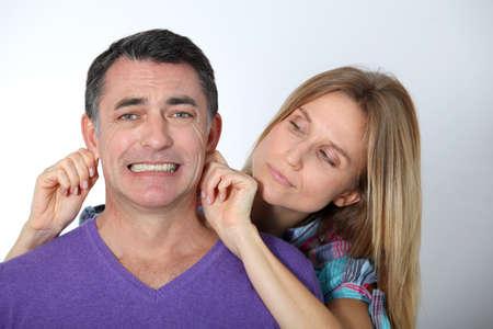 couple arguing: Couple arguing