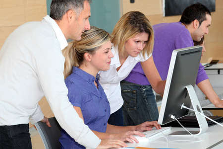 Office workers on business training Stock Photo - 8374462