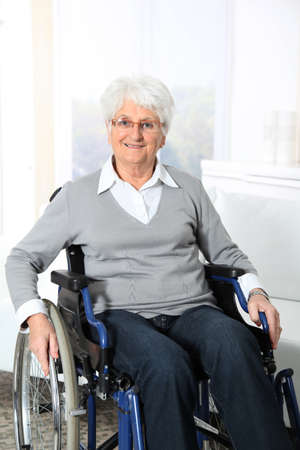 Elderly woman in wheelchair Stock Photo - 8374645