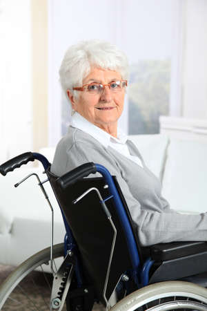Elderly woman in wheelchair Stock Photo - 8374580