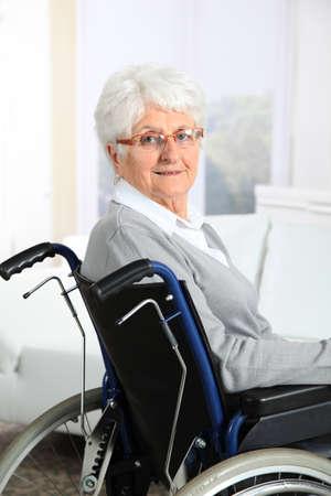 Elderly woman in wheelchair Stock Photo - 8374580