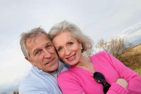 Closeup of happy senior couple  photo