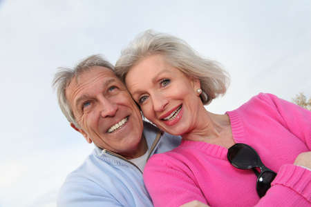 Closeup of happy senior couple  Stock Photo - 8400962