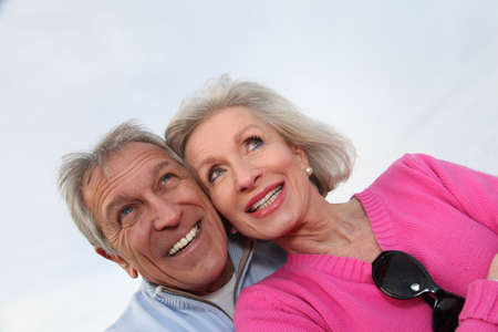 Closeup of happy senior couple  Stock Photo - 8400909