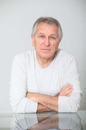 Senior man with seus expression Stock Photo - 8400728