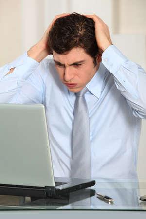 fedup: Portrait of worried businessman