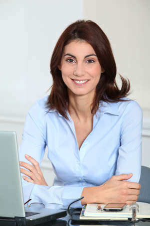 Portrait of smiling businesswoman Stock Photo - 8748998