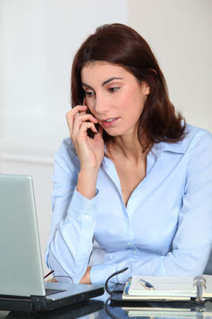 Portrait of businesswoman on the phone Stock Photo - 8741958