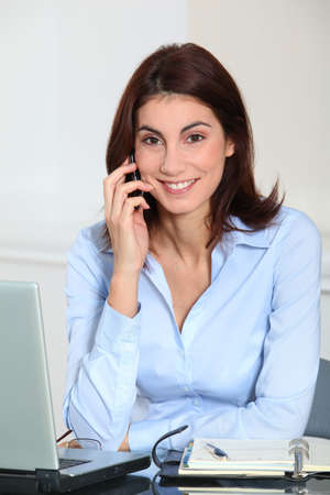 Portrait of businesswoman on the phone Stock Photo - 8748980
