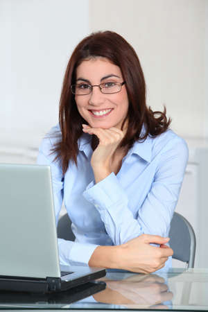 Businesswoman in the office Stock Photo - 8741926