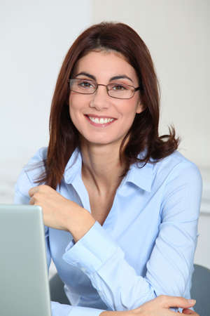 Businesswoman in the office Stock Photo - 8748975