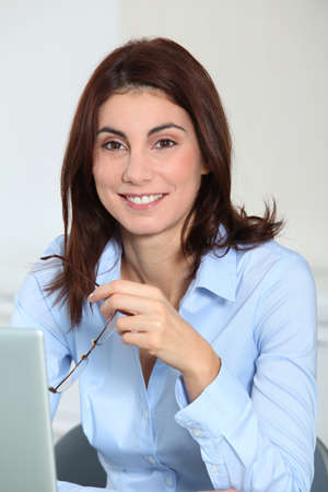 Businesswoman in the office Stock Photo - 8972066