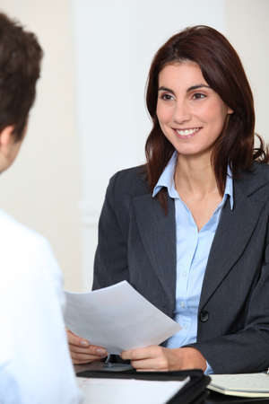 Job applicant having an interview Stock Photo - 8740689