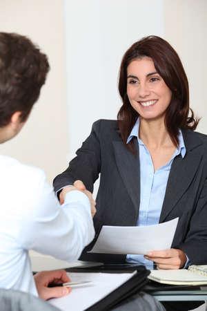 JOB INTERVIEW: Job applicant having an interview