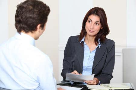 curriculum: Job applicant having an interview