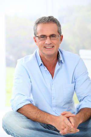 eyewear: Portrait of handsome man with eyeglasses