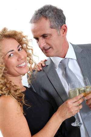 Couple celebrating new year's eve with champagne Stock Photo - 8743131