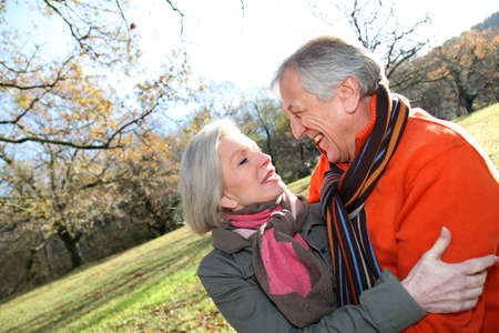 Closeup of senior couple in countryside Stock Photo - 8742899
