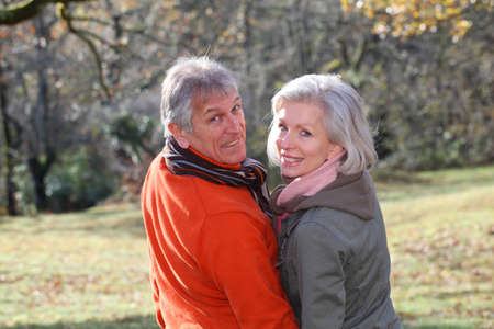 Portrait of senior couple in countryside Stock Photo - 8972378
