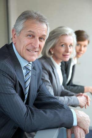 사무실에서 비즈니스 팀 서의 초상화