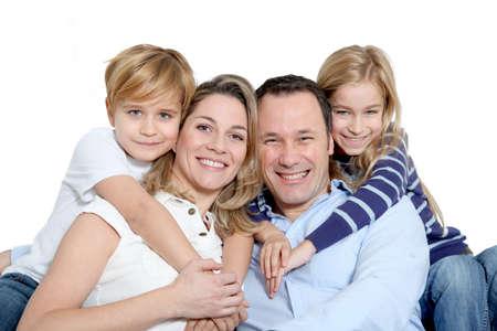 persona feliz: Retrato de familia feliz