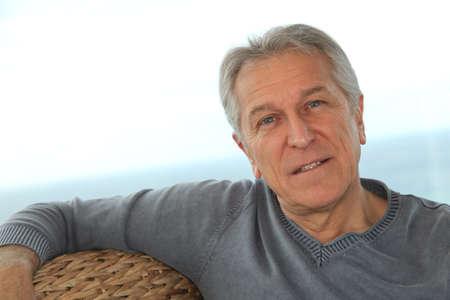 Portrait of senior man  photo