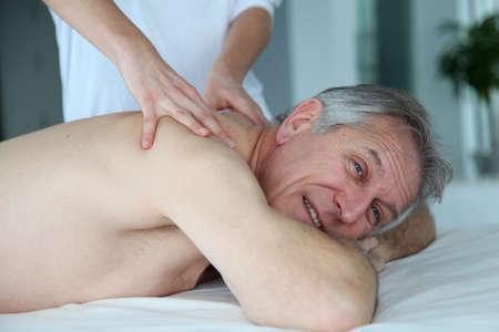 Senior man having a massage Stock Photo - 9031751