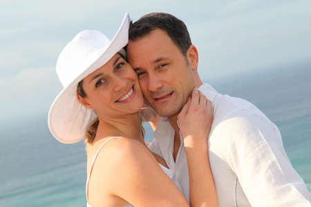 pareja de esposos: Retrato de la joven pareja casada