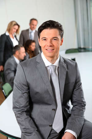 Portrait of businessman sitting in meeting room Stock Photo - 8915155
