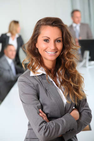 Portrait of smiling businesswoman in office Stock Photo - 8916612