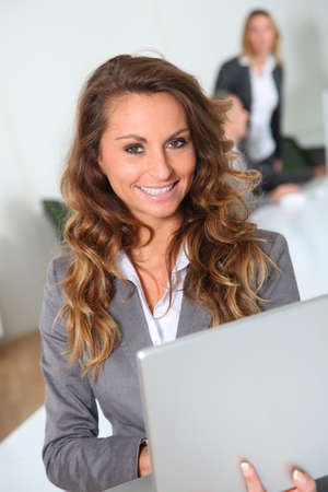 Portrait of smiling businesswoman in office Stock Photo - 8916461