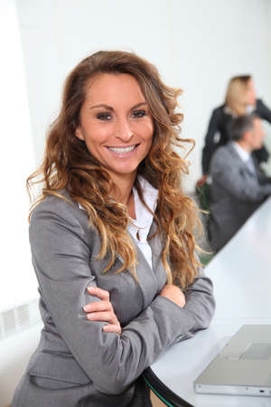 Portrait of smiling businesswoman in office Stock Photo - 8916592