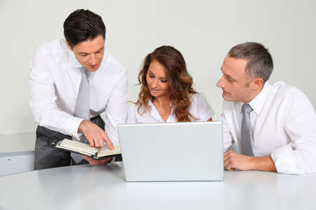 Business team working in the office photo