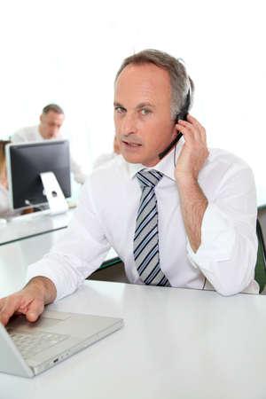 teleoperator: Customer service people on the phone