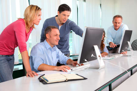Group of business people working in the office Stock fotó