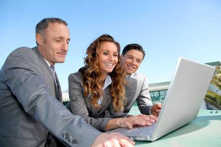 workteam: Workteam during a business travel meeting