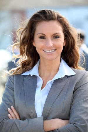 saleswomen: Portrait of beautiful smiling businesswoman