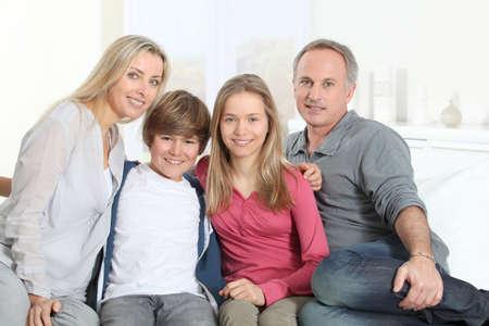 Portrait of happy parents and children Stock Photo - 9002180