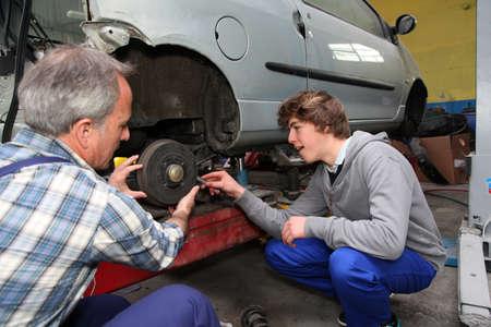 apprenticeship: Teenager in professional training in workshop