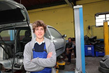 apprenticeship: Portrait of teenager in mechanics apprenticeship