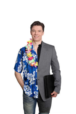 hawaiian shirt: Cool business and vacation time Stock Photo
