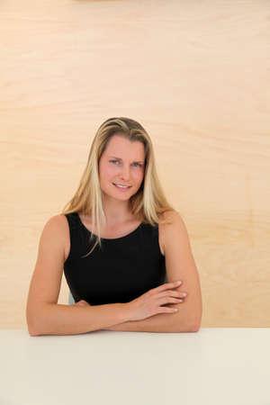 Portrait of beautiful blond businesswoman Stock Photo - 9347402