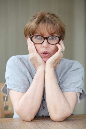 Senior woman with surprised look Stock Photo - 9479172