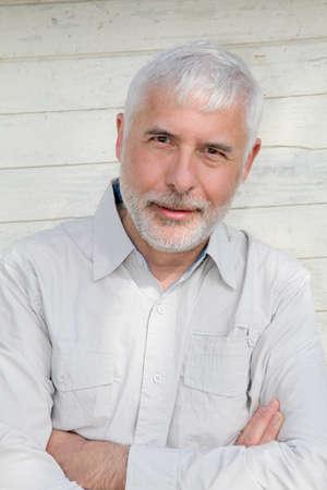 old man portrait: Portrait of senior man
